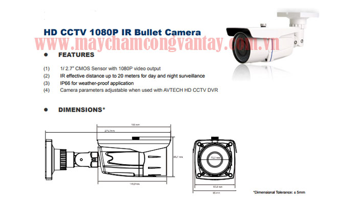 Camera DG 108DP Avtech gia re