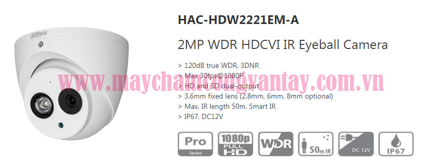 Camera DH-HAC-HDW2221EMP-A gia re